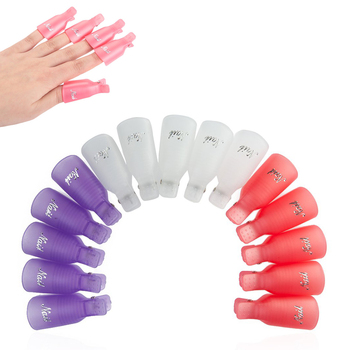 by DHL or EMS 100Lot(10Pcs/Lot) Remover Gel Polish Nail Art Soakers UV Nail Degreaser Polish Wrap Tool Nails Remover Soak Off
