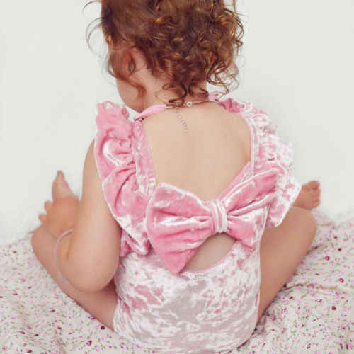 a6efbb3a348d8 Cute Newborn Baby Girls Bodysuits Baby Girl Fashion Backless Silk Shiny  Bodysuit Outfits Clothes Baby Clothing