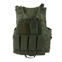 S Army Tactical Military Hunting Molle Combat Assault Carrier Vest Adjustable Top Outdoor Game Equipment