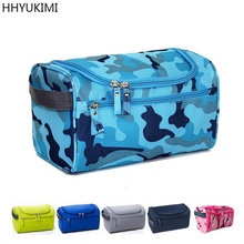 Fashion Waterproof Nylon Men Hanging Makeup Bag Travel Organizer Cosmetic Bag For Women Large Necessaries Toiletry Case Wash Bag