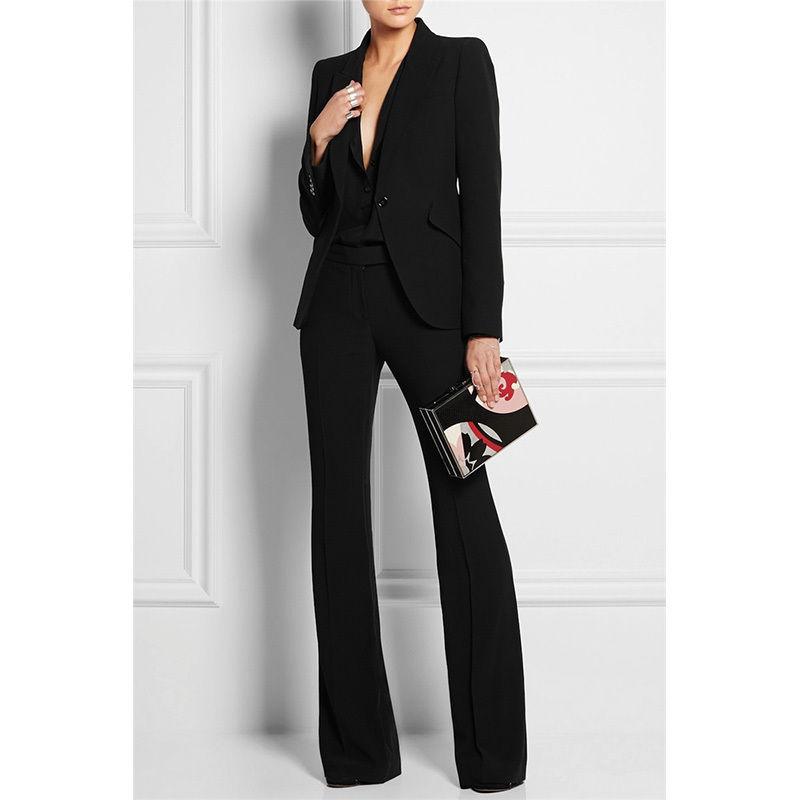 Новый черный Для женщин Бизнес костюмы формальные костюмы работа в офисе Блейзер Для женщин смокинг костюм повседневная одежда B230