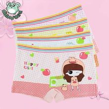 free shipping 4pcs/lot Bamboo fiber boxer briefs of the girls from 1-10T  girls underwear