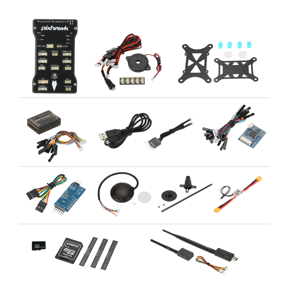 Pixhawk PX4 2.4.6 Flight Controller NEO-M8N GPS Mini OSD 915Mhz Data Transmision for F450F550 RC Quadcopter Muticopter Drone цены онлайн