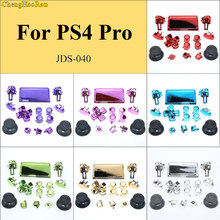 ChengHaoRan 8 colors 1set Chrome Dpad R1 R2 L1 L2 Buttons For Sony Dualshock 4 Pro Slim Wireless Controller JDS-040 New Version(China)