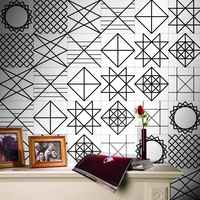 2017 New Arrival 5M Black White Wall Stickers Tile Tiles Stickers Decoration Film PVC Bathroom Waterproof