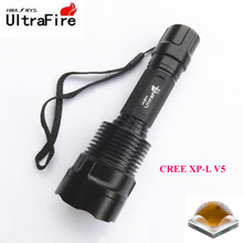 U-F C12 CREE XP-L V5 2000lm Cool White Light 5-Mode SMO LED Flashlight (1 x 18650)