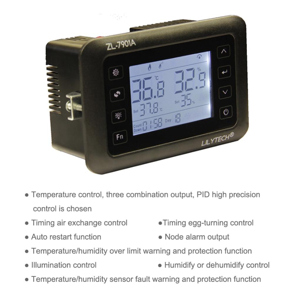 Yieryi ZL 7901A Incubatore Digitale di Temperatura e Umidità di Controllo Uovo Incubatore PID di Controllo della Temperatura 100 240 V (V)-in Gabbie e accessori da Casa e giardino su  Gruppo 2