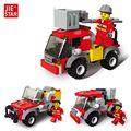 JIE-STAR Deformaciones Ciudad Serie de Incendios Escalera de Camión de Bomberos 3 Tipos de Bloques de Construcción de Juguetes para Los Niños DIY Montado Juguete Del Bloque 22024
