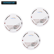 HOMSECUR A8 HOMSECUR Wireless Smoke/Fire Alarm Detector 3pcs For Our 433MHz Alarm System