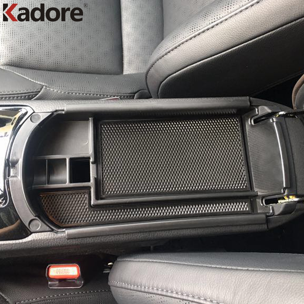 For Toyota C-HR CHR 2016-2018 Plastic Front Center Armrest Storage Box Cover Console Container Bin Holder Car Styling Accessory