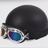 Hot Sale Halley Styling Unisex New Summer Vintage Motorcycle Helmets Open Face Half Motorbike Goggles Helmet