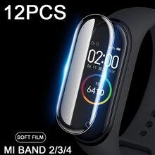 12 шт./лот Защитная пленка для Xiaomi Mi группа 4 экранный протектор на браслет Xiaomi 3 2 band2 band3 band4 M4 возможны не Стекло