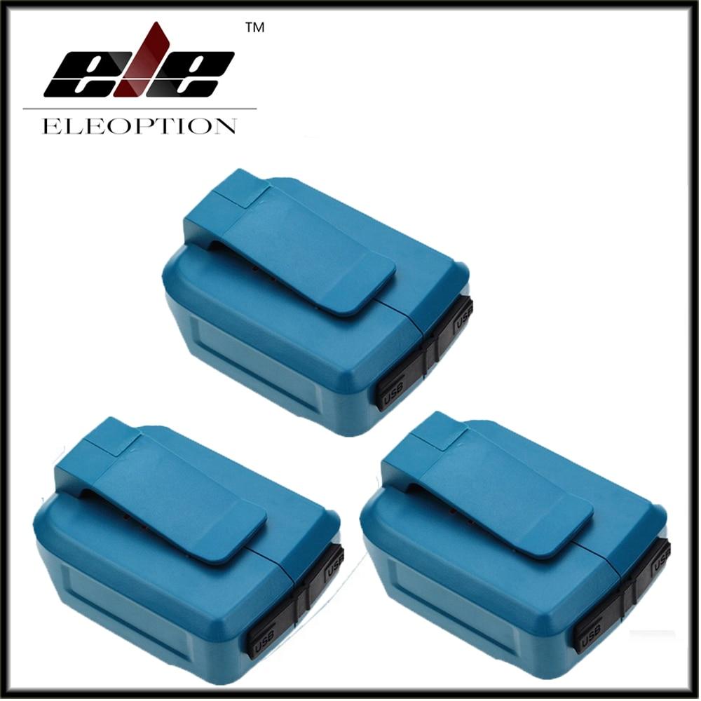 High Quality 3 pcs 2USB Ports Charger Adapter for Makita Li-ion Battery BL1430 BL1815 BL1830 BL1845