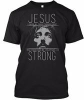 2017 Summer New Fashion Streetwear Short Sleeve T Shirts Wear The Jesus Strong Christian Newest Fashion