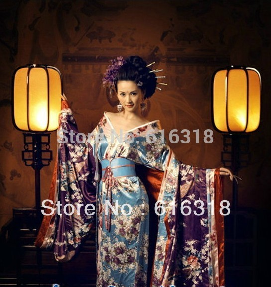 Classical Exotic Japanese Kimono Women s Sexy Costume Photography Clothing Set Dress Belt without Kimono Backpack