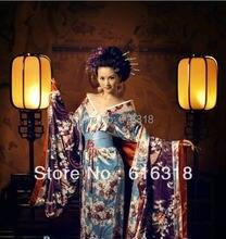Классическое экзотическое японское кимоно женский сексуальный
