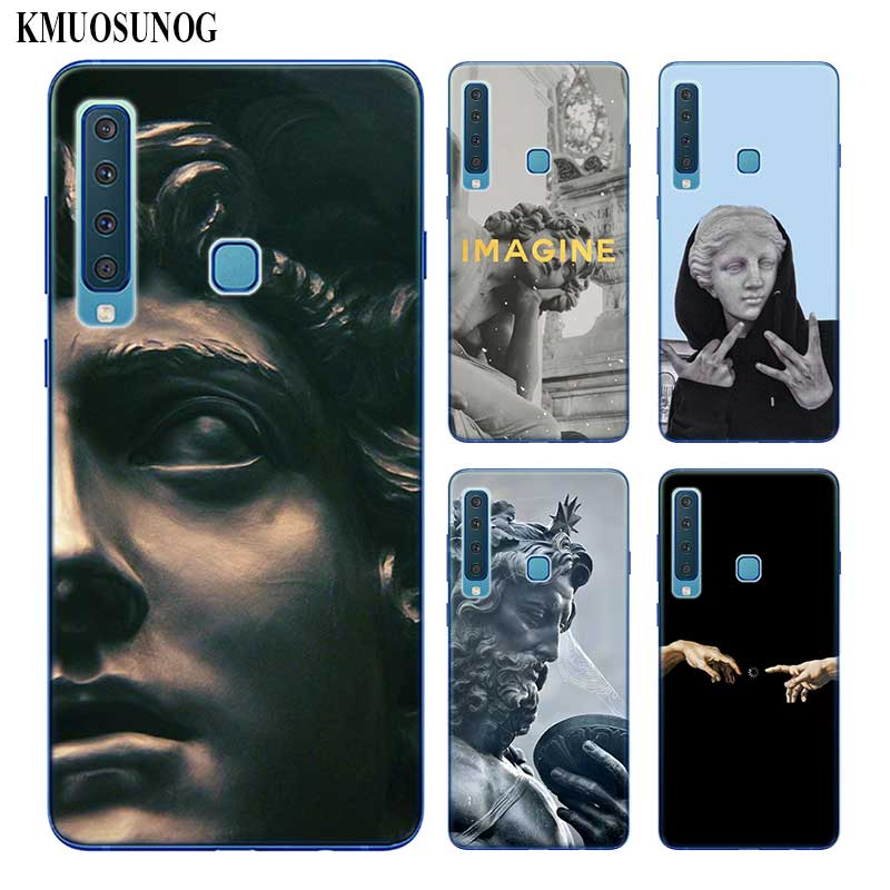 Silicone Phone <font><b>Case</b></font> Retro Vintage <font><b>Art</b></font> Statue For <font><b>Samsung</b></font> <font><b>Galaxy</b></font> A50 <font><b>A30</b></font> A10 A8 A7 A6 A5 A3 Plus 2018 2017 2016 image