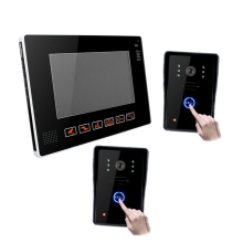 9″ TFT LCD Wired Video Audio Intercom Doorbell Video Door Phone Bell Access Control 2 Camera 1 Monitor for Home Security System