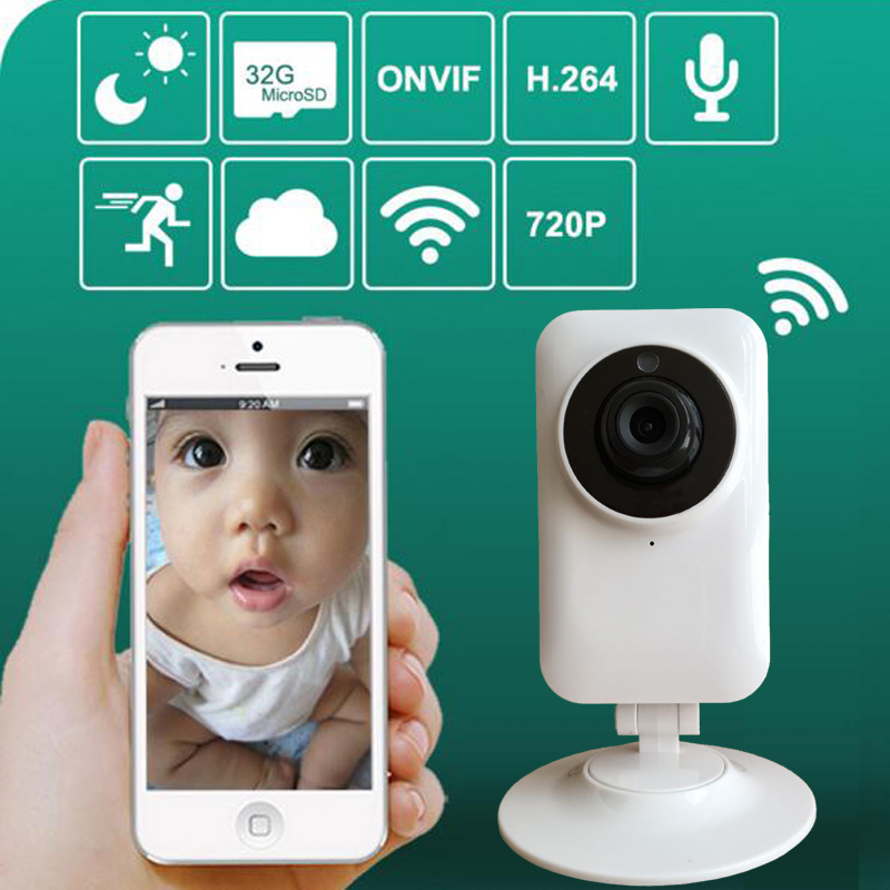 2.4GHz Wireless Wifi Baby Monitor 720P IP Camera Bebe Babyphone Video support Night Vision Two Way Talk Max 32G Card wireless baby monitor vb601 with camera for the night vision bebek telsiz telsizleri babyfoon met babyphone video detector