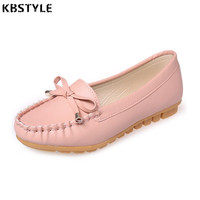 New Women Real Leather Shoes Moccasins Mother Loafers Soft Leisure Flats Female Driving Casual Footwear Nurse