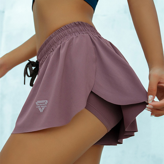 CretKoav Summer Running Shorts Women 2 In 1 Marathon Quick Dry Shorts Gym Loose Sport Shorts Breathable Yoga Shorts