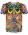 Saintart T-Shirt personaje Colorido sol trippy moletom camiseta 3d camisetas impresas camiseta hombres de las mujeres de moda camisetas