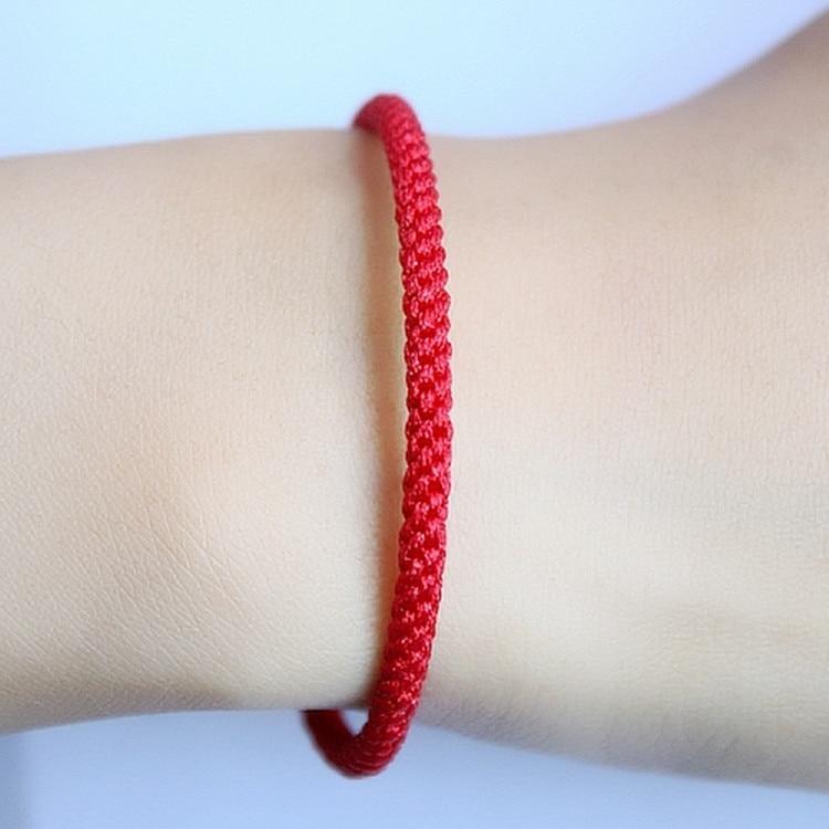 167846c2c474 RongDe estilo chino trenzado cadena roja de la suerte pulsera hilo ...