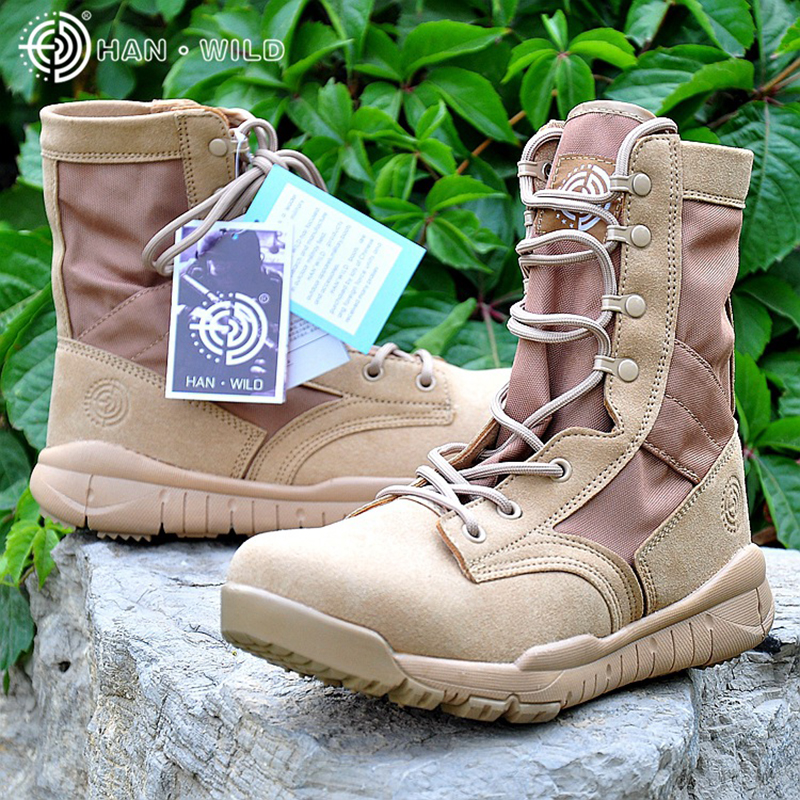 2018 Spring Men Military Boot Black Breathable Canvas Ultra Light Desert Shoes Mens Combat Ankle Tactical Army Boots