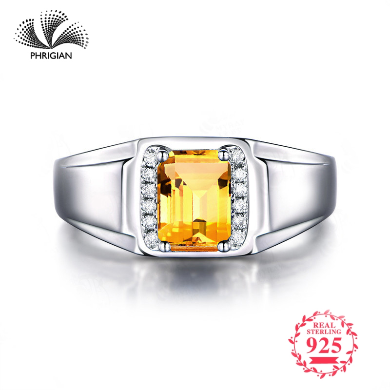 NOT FAKE Fine natural Engraving Sterling silver gemstone Emerald cut ring Women custom jewelry 925 carat Yellow Citrine RINGNOT FAKE Fine natural Engraving Sterling silver gemstone Emerald cut ring Women custom jewelry 925 carat Yellow Citrine RING