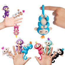 6 Color Fingerlings Toys Interactive Monkey Smart Colorful Fingersllings Induction christmas gift kids pet toys for