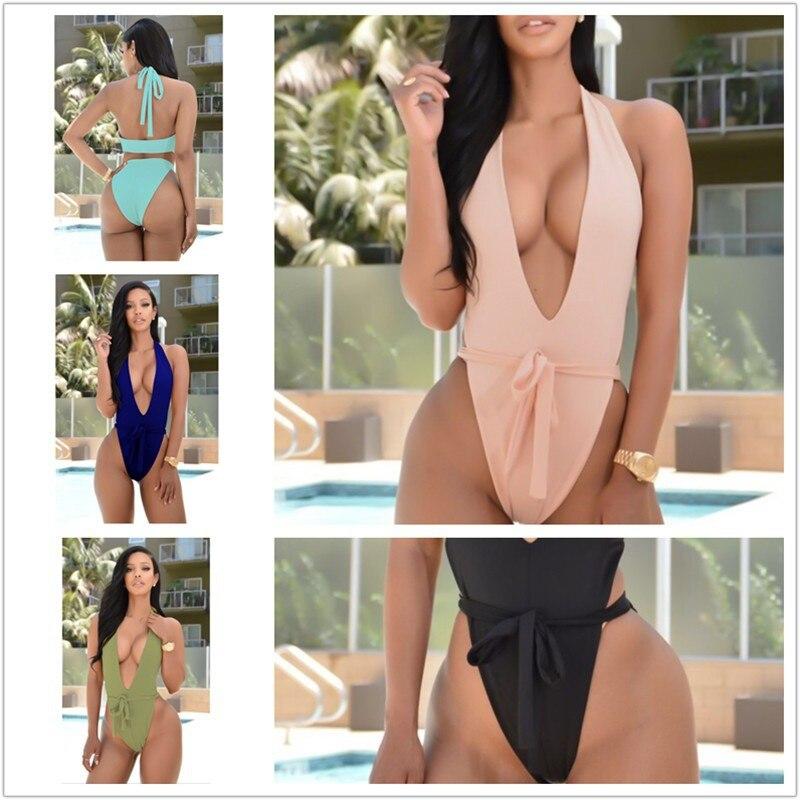 Mint Store Sexy swimwear women one piece swimsuit bandage bathing suit woman summer beach wear swimming monokini maillot de bain femme