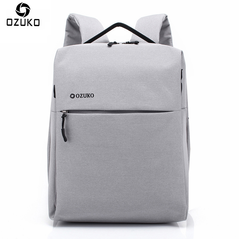 2018 OZUKO Multi-functional Computer Backpacks Men Casual Business Laptop Backpack Minimalist Fashion School Bag Travel Mochila ozuko simple style business casual men backpack school bag women travel bag 15 6 inch laptop backpacks waterproof oxford mochila