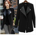 2016 European style new women autumn winter fashion Cashmere cardigan coat medium-long female trench outerwear Plus size