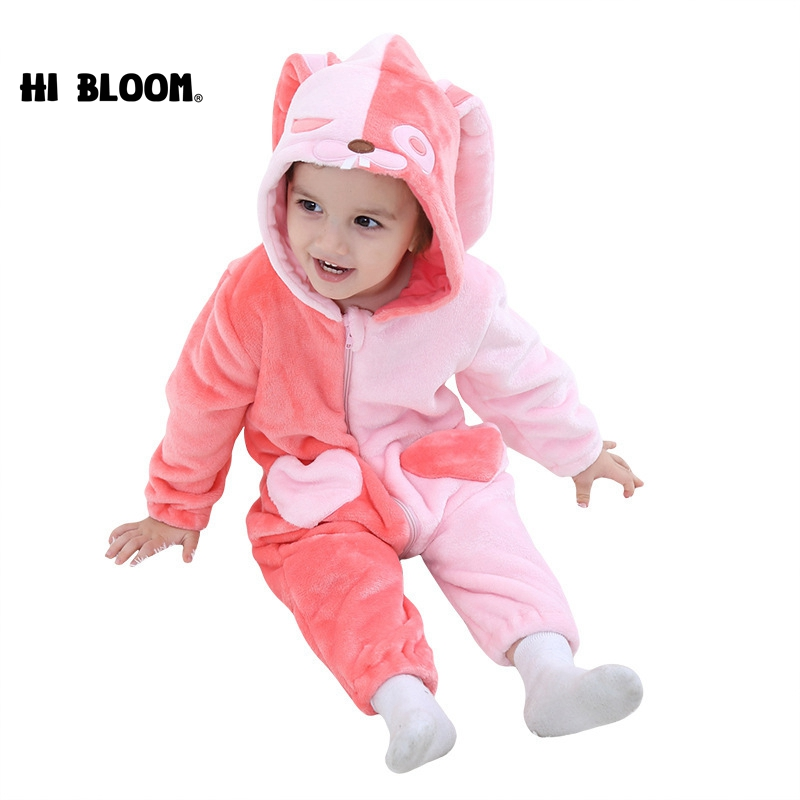 Newest 100% Flannel Baby Game Cartoon Angel Jumpsuit Clothes Kids Girl Cute Animal Rompe ...