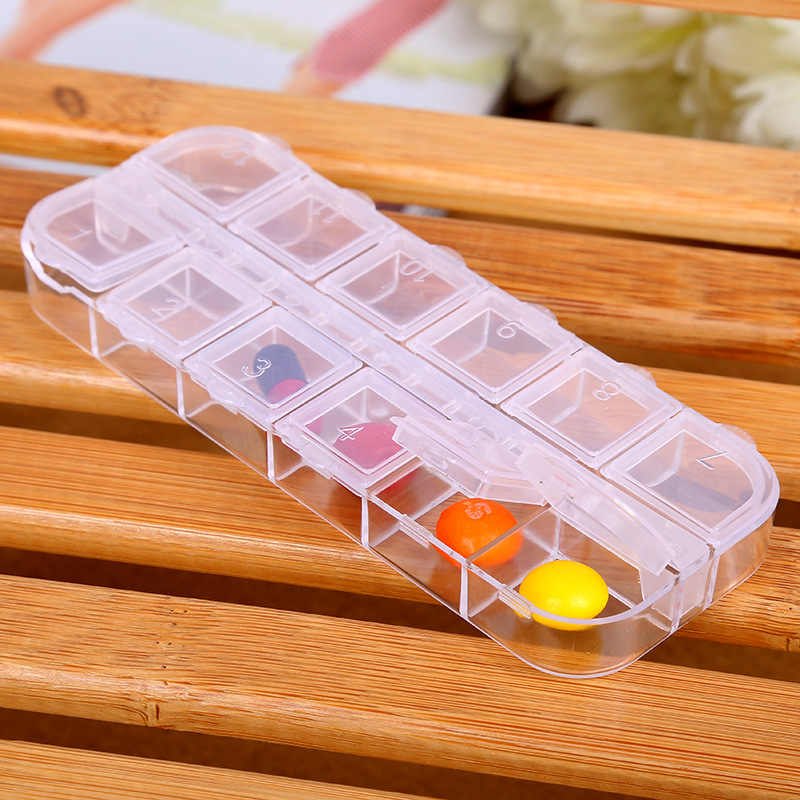 New 12 spaces Weekly Tablet Pill Medicine Box Holder Storage Organizer Container Case Pill Box Medicine Container home use 19050