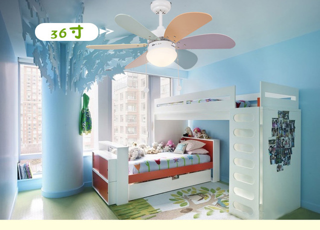 Kinderen plafond fans LED eenvoudige mode ventilator licht ...