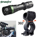 Super Bright CREE XML T6 LED Zoomable Flashlight Bike Bicycle Mount Clip 18650 Flashlight  L61216