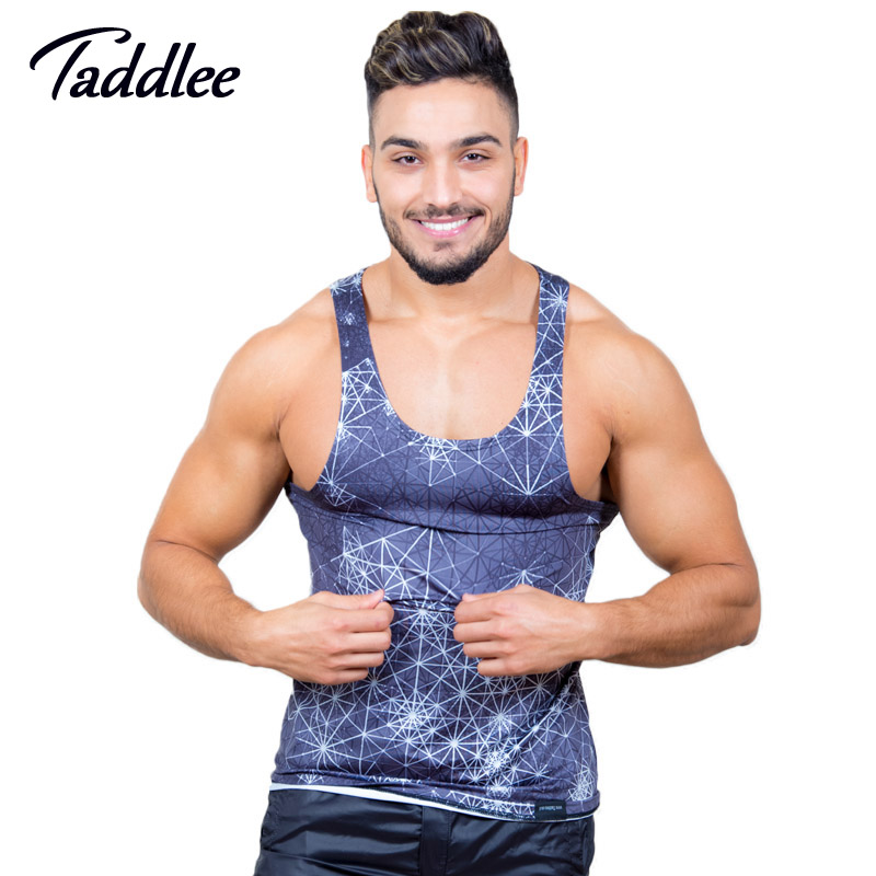 Taddlee Brand Men   Tank     Top   Shirts Tees Sleeveless Undershirts Casual   Tanks   Vest Fitness Stringer Singlets 3D Printed New
