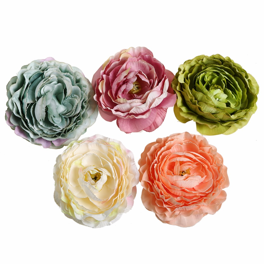 10pcs/lot 3 Fabric Flowers DIY Hand Craft Peony Hair Accessories Kidocheese