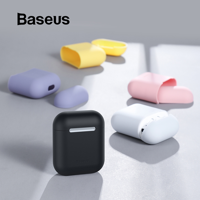 Baseus Ultra Thin Case for AirPods Earphone Cover Universal Skin Friendly Silicone Protective Box for Air Pods 1 2 AccessoriesBaseus Ultra Thin Case for AirPods Earphone Cover Universal Skin Friendly Silicone Protective Box for Air Pods 1 2 Accessories