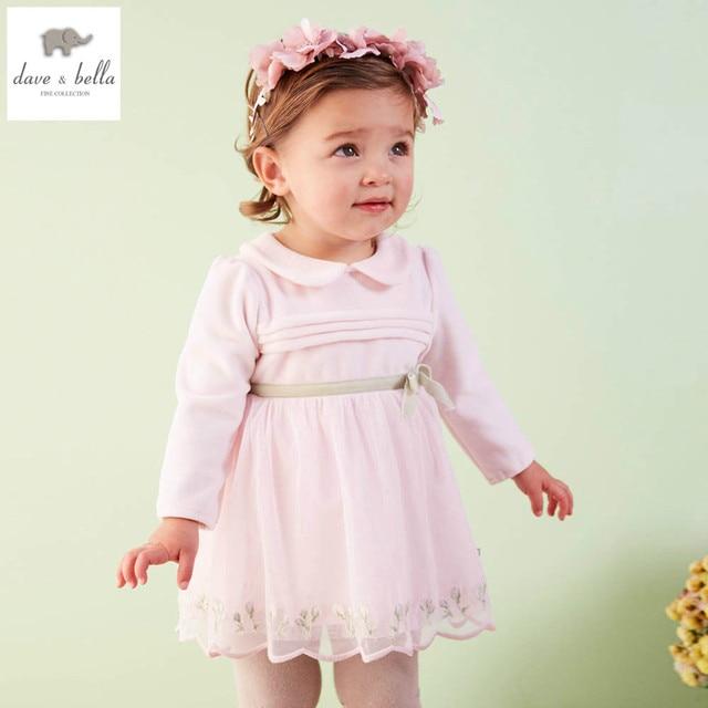 Db4035 Davebella Spring Baby Girl Vintage Style Princess Dress Baby