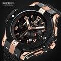 MEGIR Chronograph Sport Uhr Männer Kreative Große Zifferblatt Armee Military Quarz Uhren Uhr Männer Armbanduhr Stunde Relogio Masculino