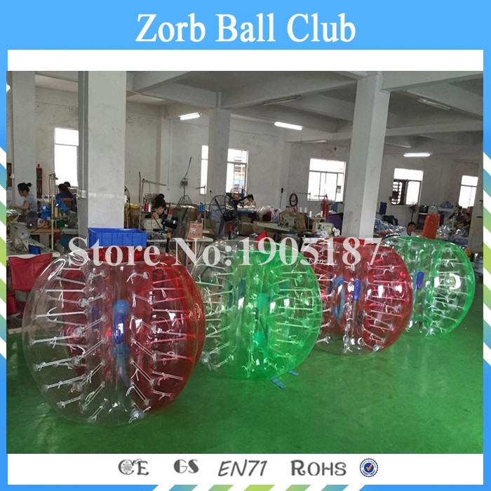 Free Shipping 4PCS(2Blue+2Red) 1.5m Colorful PVC Bubble Soccer/ Bubble Bumper Ball For Adult
