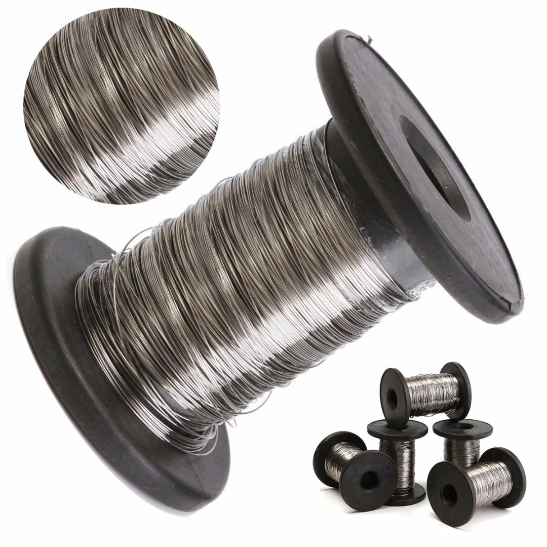 304 Stainless Steel Roll Wire 30M Single Bright Hard Wire Cable Rope  Diameter 0.2mm-0.6mm Mayitr 3mm 7 7 stainless steel 316 wire rope 7x7 strand core seaworthy marine grade