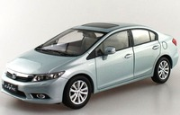 1:18 Diecast Model for Honda Civic 9 2014 Silver Blue (Defect) Rare Alloy Toy Car Miniature Collection Gifts MK9