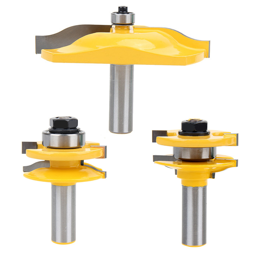 3PCS 1/2'' Shank Ogee Rail & Stile Router Bit Cove Raised Panel Tools Sets Kit Woodworking Chisel Cutter Tool Set 3pcs set bit raised panel cabinet door router bit set 1 2 inch milling cutter for woodworking cutter cutting power tools