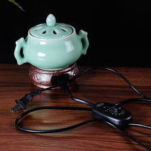 Interaural Celadon Electric Burner Sachemic Essence Electronic Incense Burner Set Clean The Air Aromatherapy Free Shipping