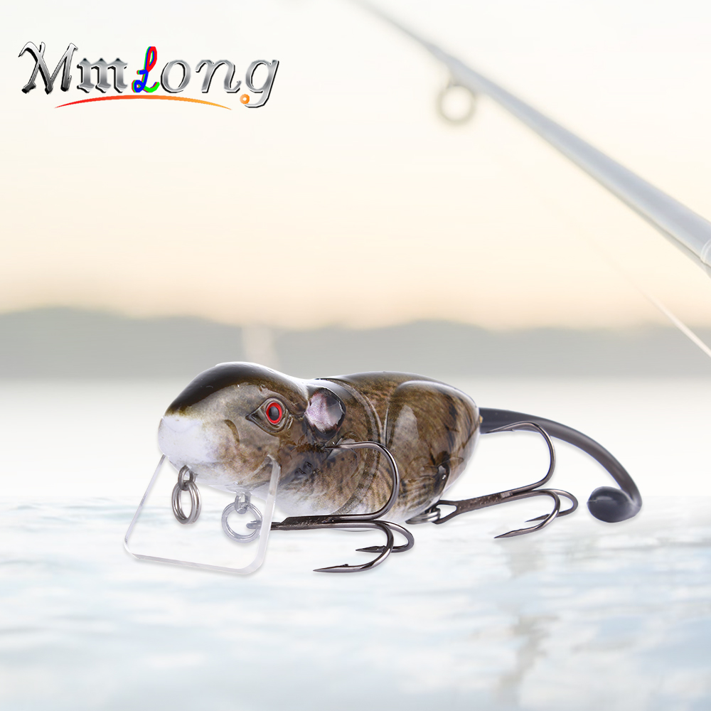 Mmlong 9cm Jointed Fishing Rat Artificial Baits Rat2-M 22.1g Hot Sale Swimbaits Floating Mouse Lures Wobbler Crankbaits