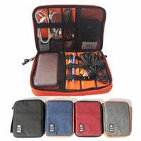 Portable Waterproof Ipad Organizer Travel Storage Bag USB Cable Earphone Pen Organizer Digital Devices Organizador Bags
