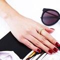 Venta caliente AAA Cubic Zirconia Stone Anillos de Compromiso Para Las Mujeres de Lujo de Oro y Platino Plateado Joyería de Moda CZ Anillos De Latón